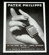 1945 Old Wwii Magazine Print Ad Patek Philippe The Worldand039s Foremost Watch