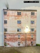 G Scale Scratch Built Industrial 7 Factory Building Led Front/flat Mth Lgb