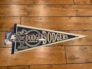 Vintage Los Angeles Brooklyn Dodgers Team Fan Pack Pennant Button And Sticker