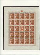 Croatia German Puppet State B20-b24 Red Cross Sheets With Labels Perfect Mnh