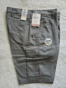 New Mens Dockers Cargo Shorts With Stretch Gray Grey 30 32 33 34 36 38 42