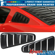 10-14 Ford Mustang 5 Vent Painted Pp Window Louver Visor - Oem Painted Color