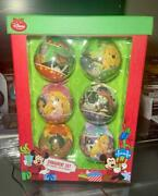 2013 Disney Store Exclusive Christmas Movie Decoupage Ball Ornaments