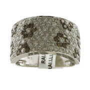 2.04 Ct Pave Diamond Handmade Ring 18 Kt Solid White Gold Party Wear Jewelry
