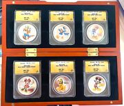 2014 Disney Characters 6 Silver Coins Complete Set All Ngc Pf 70 Dcam