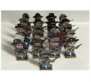 Us Civil War Toy Soldiers Bg Robertson, 1 And 4 Tx