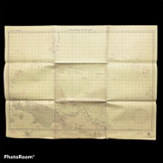 Wwii And039confidentialand039 1945 Pacific - Navy Loran Navigator Map Palau Saipan Guam