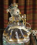 Blue Sky Heather Goldminc Cat Fortune Teller With Underplate Light Crystal Ball