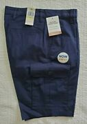 New Mens Dockers Cargo Shorts With Stretch Navy Blue Size 30 32 34 42