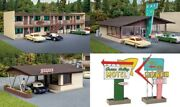 Walthers 3487 Vintage Motor Hotel With Office And Restaurant Kit Ho Mib