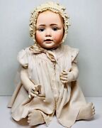 """Antique Baby Doll Jdk Bisque 22 """" Marked Made In Germany 17 Vgc Beautiful"""