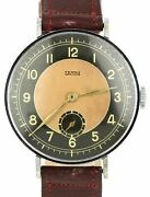 1940s Vintage German Wwii Terno Watch 37.5mm Stainless Leather Manual Wind Watch
