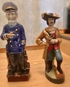 Collectible Rare Liquer Decanters Lot Of 2 Ezra Brooks And Jim Beam