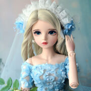 1/3 Bjd Girl Doll Pretty Female Body With Clothes Change Eyes Doll Handmade Gift