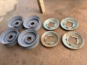 1936 Cadillac Wheels Rims And Covers Set Of Four Originals