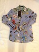 New Womens Designer Kris Knight Button Down Shirt Size 38 Italy 2 Us