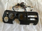Chevelle El Camino 1969 Dash Bezel, Gauge Cluster And Wire Harness Ac Housing