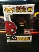 Funko Pop Marvel Zombies Zombie Red Skull Collector Corps Exclusive 668