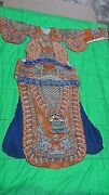 Antique19c Chinese Silk Embroidery Gold Treads Robe Imperial Dragonbirdssymbol