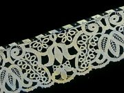 Antique Lace Trim Striped Satin Edge Wide Flounce Edging Costume Sewing Clothes