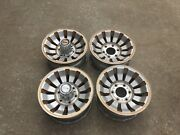 """1980-1985 Jeep Cherokee, 4 Gold Wheels 15"""" Rims Two Center Caps Nice Condition"""