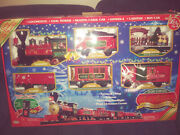 North Pole Express Christmas Train Set Over 20' Of Track Lights Up