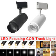 10w 20w 30w Led Cob Tracking Rail Light Celling Down Spot Lamp Zoomable Focusing