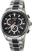 Seiko Astron Watch Gps Solar Dual Time Sbxb041 Menand039s From Japan New