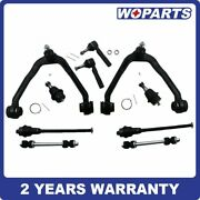 10pc Front Control Arm Lower Ball Joint Tierod Fit For Gmc Sierra 1500 4wd 6-lug