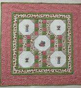 Mice And Kitty Handmade Baby Quilt