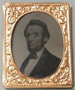1862 Abraham Lincoln Presidential Large 50mm X 40mm Photo Ferrotype Extra Fine