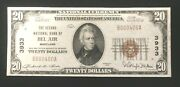 Second Nb Of Bel Air Md Ch 3933 Series 1929-small Size 20 Note Type 1