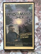 Wwf Wrestlemania Xi April 2 1995 Nfl Lawrence Taylor Signed Advertising Poster