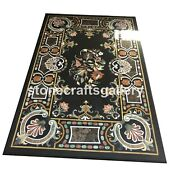 4and039x3and039 Marble Dining Table Top Precious Mosaic Inlay Stone Collectible Decor B087