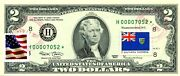 2 Dollars 2003 Star Stamp Cancel Postal Flag From Southern Rhodesia Value 500