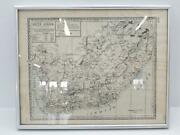 Antique 1887 South Africa Framed Map By H.c. Tunison Atlas American Map Maker