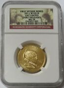 2011 W Gold 10 Julia Grant 1/2oz Spouse 2892 Minted Ngc Mint State 70 Er