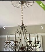 8 Candle Solid Silver/brass Chandelier