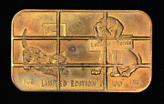 Bronze Art Bar Cancelled Greathouse Dog And Cat 1 Oz Letand039s Be Friends Silver Bar