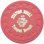 Station House Casino Tonopah Nevada 10pts Roulette Ncv Chip 1980s