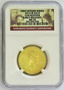 2014 W Gold 10 Lou Hoover 1/2oz Spouse 1936 Minted Ngc Ms 70 Early Releases