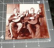 1900and039s Men W/ Guitars Musical Instruments Martin Gibson Vintage Snapshot Photo