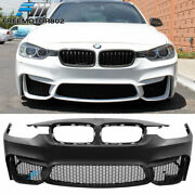 Fits 12-18 Bmw F30 3 Series Sedan M3 Front Bumper Conversion Cover Replacement