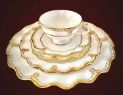 Elizabeth Gold By Royal Crown Derby Brand New 5 Piece Place Setting