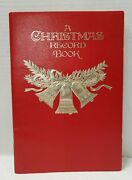Vintage Hallmark Christmas Card Record Book Embossed Card List Address Red Gold