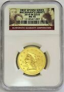 2010 W Gold 10 Buchananand039s Liberty 1/2 Oz 5162 Minted Spouse Ngc Mint State 70