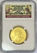 2013 W Gold 10 Edith Wilson Spouse 1/2 Oz 1974 Minted Ngc Ms 70 Early Releases