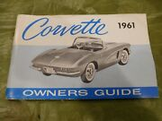 Nos 1961 Corvette Factory Gm Original Owners Manual With The Full Corvette Card