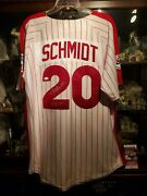 Mike Schmidt 548 Hr Signed 1976 Mitchell And Ness Jersey Jsa Witnessed Coa