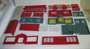 Big Lot Of 59 Vintage O Scale Plasticville,marx And K-line Partsand Accessories